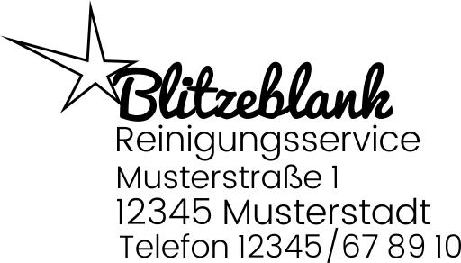 Firmen Stempel mit Logo und Text