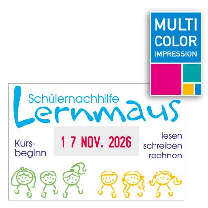 Multicolor Datumstempel