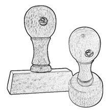 Holzstempel günstig bestellen ab 2,60 Euro - online Holzstempel selber gestalten und kaufen im Stempelshop4you