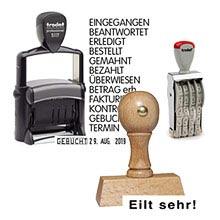 Günstige Stempel mit Standardtext als Lagerstempel Holz oder Selbstfärber online bestellen