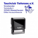 Taucherstempel mit Text