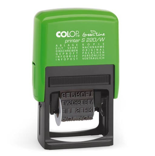 Colop Printer S220/W Green Line Wortbandstempel GRÜN BLAU