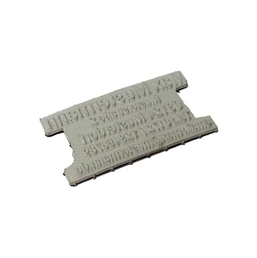 Ersatztextplatte für Colop Printer 60 Dater