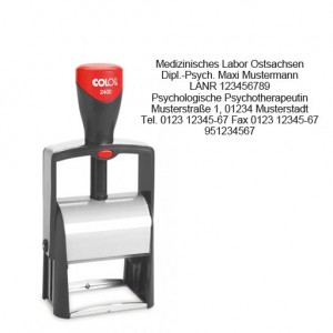 Colop Classic Line 2400 Arztstempel Microban individ. Text 7-zeilig