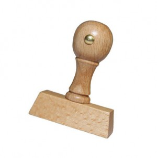 Kreativstempel aus Holz mit Ostermotiv und Gruß