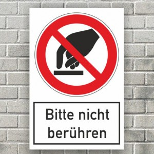 Fußbodenaufkleber Bitte nicht berühren