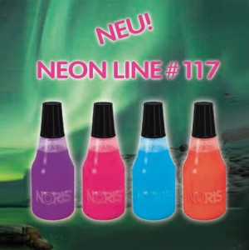 NORIS NEON LINE 117 Stempelfarbe 1 Liter  HELLBLAU