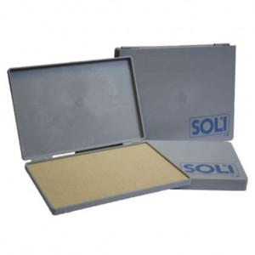 Coloris Plattenstempelkissen Soli1 mit Filz 16x9 cm ungetränkt Metallgehäuse