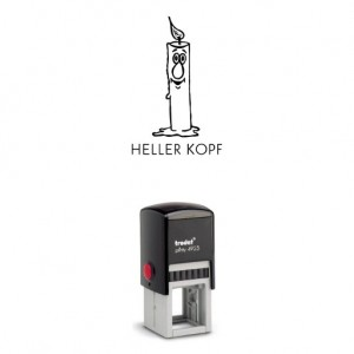 Printy 4923 Motivstempel Motiv Q16 Heller Kopf SCHWARZ BLAU