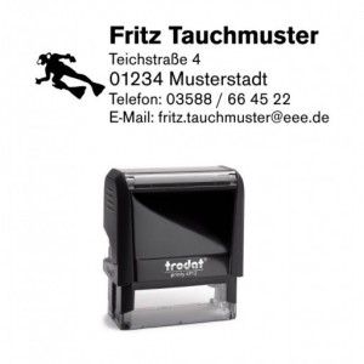 Printy 4913 Tauchstempel 35 Taucherstempel Taucher SCHWARZ BLAU