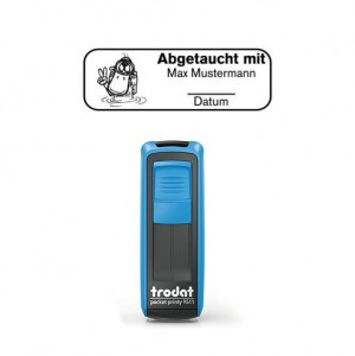 Mobile Printy 9411 Tauchstempel 60 Taucherstempel Ente eckig BLAU BLAU