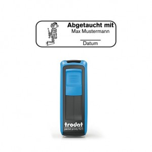 Mobile Printy 9411 Tauchstempel 65 Taucherstempel Hobbytaucher eckig BLAU BLAU