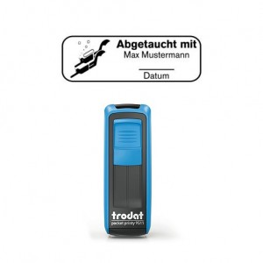 Mobile Printy 9411 Tauchstempel 71 Taucherstempel Taucherpaar eckig BLAU BLAU