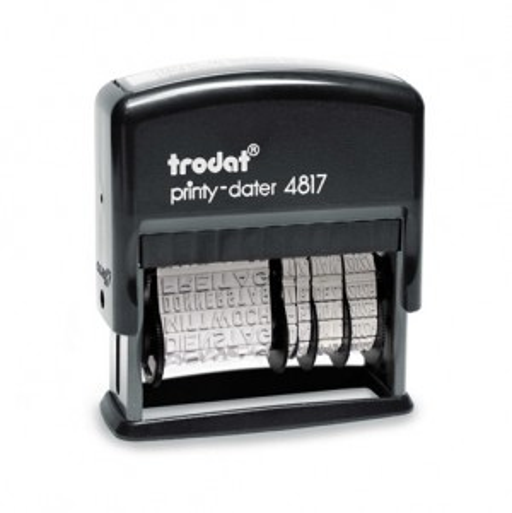 Trodat Printy 4817/B Dater mit Wortband Montag-Sonntag 49x3,8 mm  BLAU