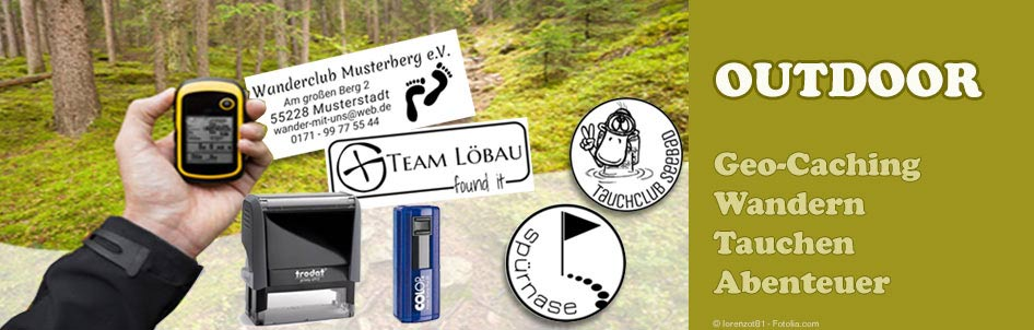 Outdoor-Motivstempel