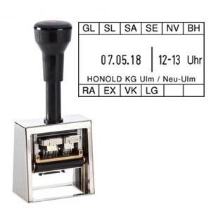 REINER Paginierstempel D53Z Uhrzeitstempel mit Datum und individuellem Text