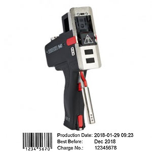 REINER 940 - mobiler und stationärer Elektrostempel ohne Textplatte für Datum, Uhrzeit, Text oder Nummern.
