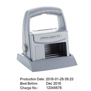 Reiner jet-Stamp graphic 970 zum mobilen Drucken von Datum und Uhrzeit mit Text, Barcode oder Grafik
