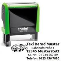 Trodat Printy 4912 Taxi Stempel für Taxibetrieb