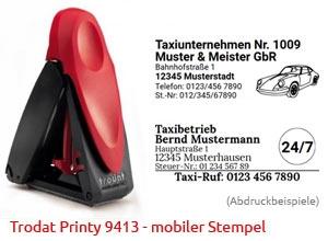 Trodat Printy 9413 mobiler Taxistempel für Fahrpreis Quittung