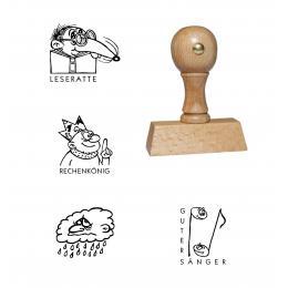 Motivstempel kaufen aus Holz