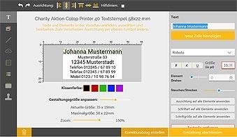 Stempel-Editor Adressstempel selbst gestalten