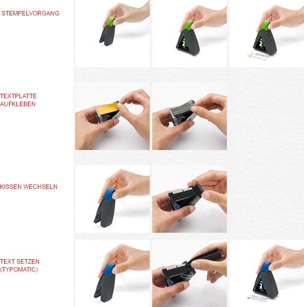 Trodat mobile Printy - so funktioniert der Taschenstempel.
