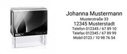 Colop Printer 40 NEU Textstempel für Adressen bis 6 Zeilen und einem Adruck von 58x22 mm