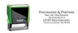 Trodat Printy 4912 Textstempel für eine Adresse bis zu 5 Zeilen, Abdruckgröße 47x18 mm