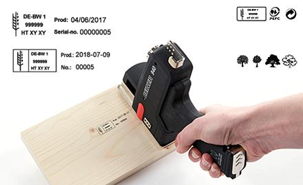 REINER 940 IPPC Stempel für Abdrucke auf Holz zum Kennzeichnen nach IPPC Standard
