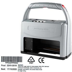 Datumstempel für Posteingang Reiner jetStamp 1025 mobiler Elektrostempel mit Akku
