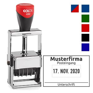 Datumstempel für Posteingang Colop 3360