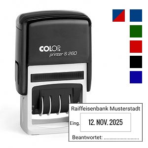 Datumstempel für Posteingang Colop S260