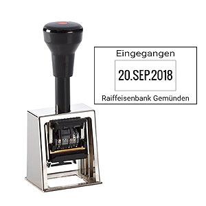 Datumstempel für Posteingang Reiner D28b