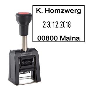 Robuster Poststempel REINER D280 mit Delrinplatte