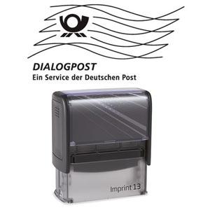 Post Stempel Imprint 13 mit Frankierwelle
