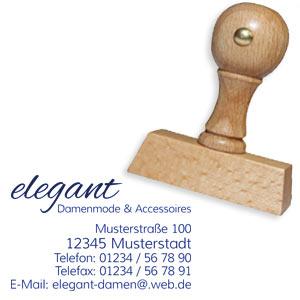 Holzstempel mit Logo